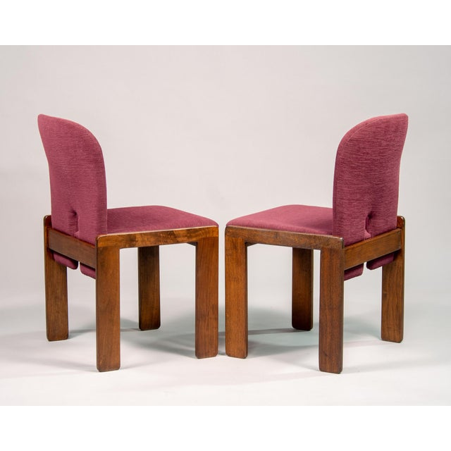 1960s Afra and Tobia Scarpa 121 Walnut Dining Chairs for Cassina, Set of 8 For Sale - Image 5 of 11