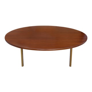 Monumental Round Mid-century Dining Table from Dunbar