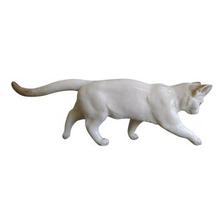 Vintage Hutchenreuther Porcelain Cat Figurine For Sale