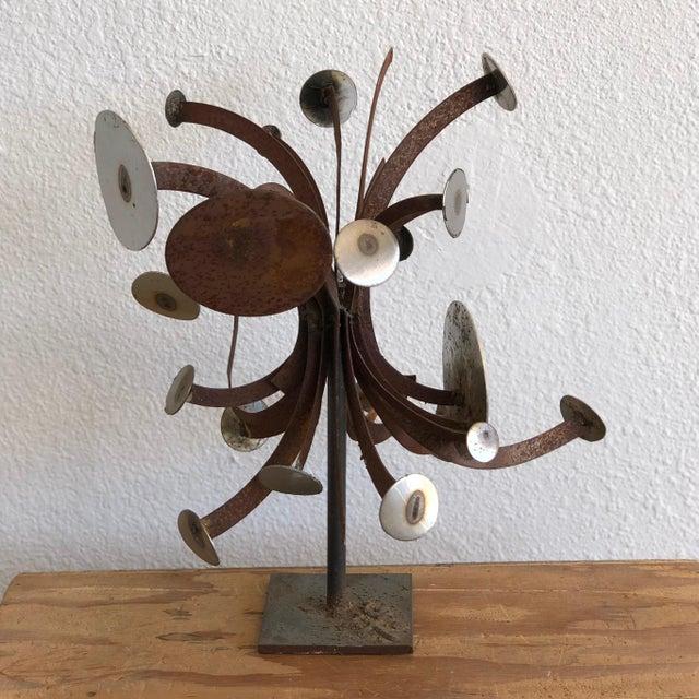 Frank Cota Brutalist Metal Table Sculpture For Sale - Image 12 of 12