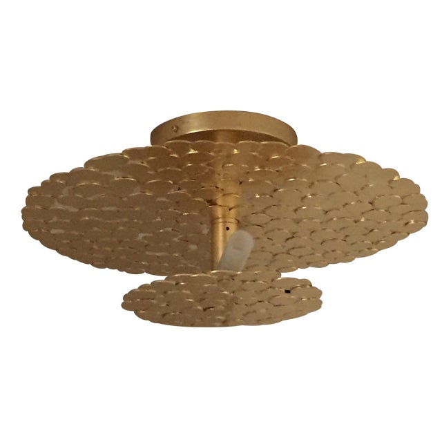 Gold Coin 2 Tiered Ceiling Light - Image 1 of 7