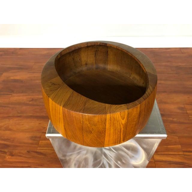 Jens Quistgaard Staved Teak Bowl by Dansk For Sale - Image 9 of 9