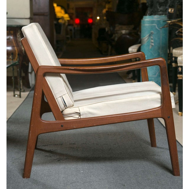 Mid-Century Modern Ole Wanscher Mid-Century Teak Lounge Chair For Sale - Image 3 of 9