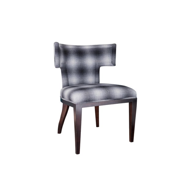 Fully Upholstered Klismos Chair For Sale