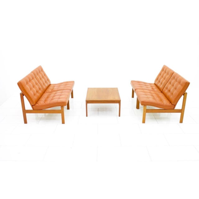 Mid-Century Modern Torben Lind and Ole Gjerlov Modular Seating Group Chairs Sofa for France & Son For Sale - Image 3 of 9