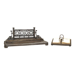 French Gothic Revival Wrought Iron Calendar For Sale