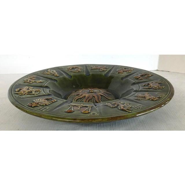 Vintage Ceramic Zodiac Ashtray For Sale - Image 4 of 6
