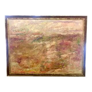 "1990s ""One Fine Day"" Large Original Abstract Expressionist Lavender Landscape by Ellen Reinkraut For Sale"