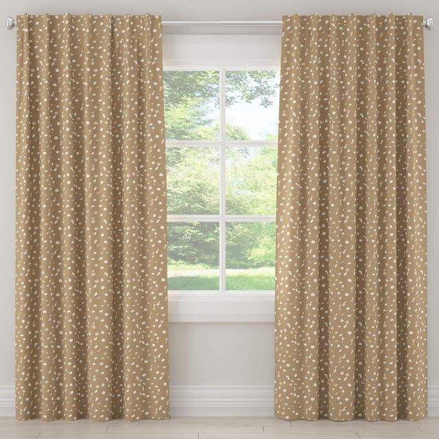 """Textile 108"""" Blackout Curtain in Camel Dot by Angela Chrusciaki Blehm for Chairish For Sale - Image 7 of 7"""