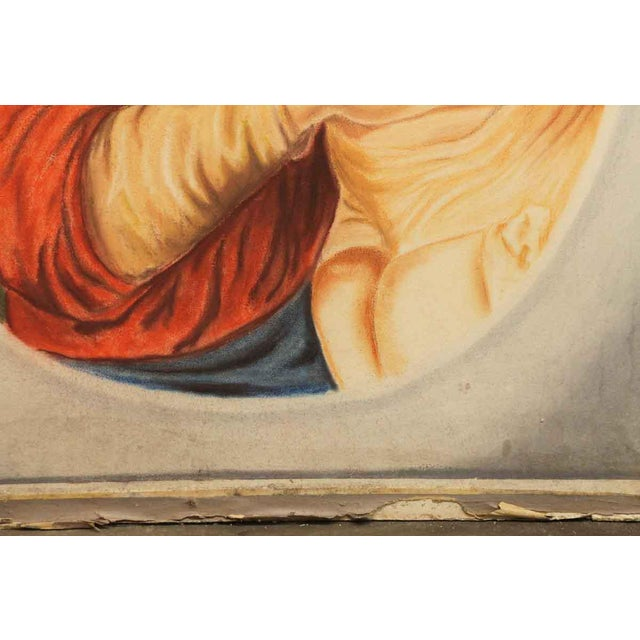 """""""Madonna & Child"""" Painting on Sheet Rock For Sale - Image 4 of 9"""