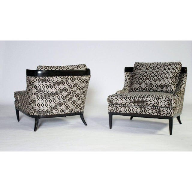 Lacquer Pair of Slipper Chairs by Erwin Lambeth For Sale - Image 7 of 7