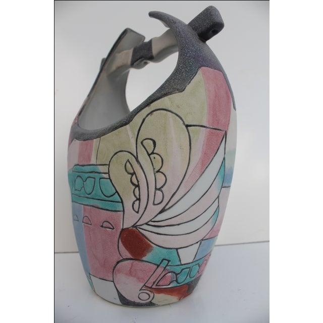 Kiln Art Cubist Handmade Vase - Image 7 of 8