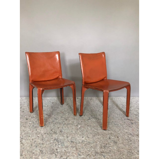 Mario Bellini for Cassina Cab 412 Chairs - a Pair For Sale - Image 10 of 10