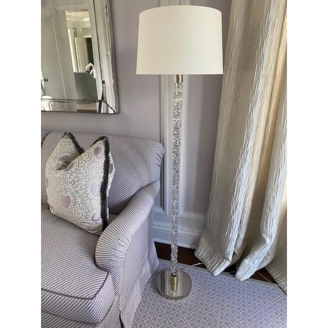 Vaughan Twisted Glass Floor Lamp For Sale - Image 12 of 12