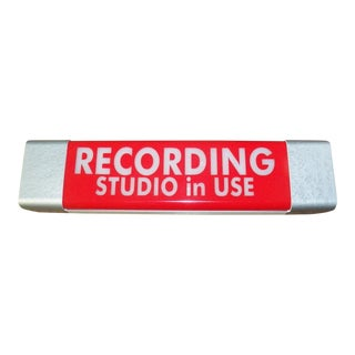 """""""Recording Studio in Use"""" Red Lighted Sign"""