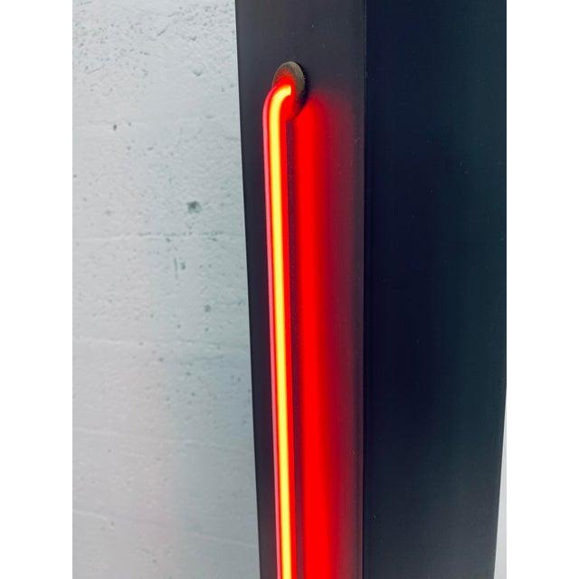 Rudi Stern Postmodern Red Neon Floor Lamp for George Kovacs, 1980s For Sale - Image 9 of 13