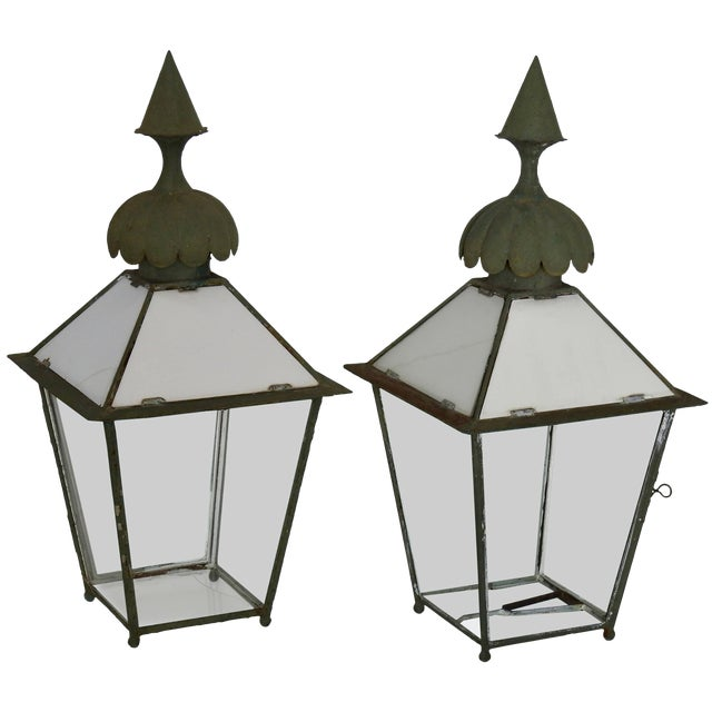 19th Century Pair of Victorian Gasolier Lanterns For Sale