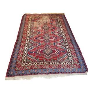 Vintage Turkish Soumak Rug Flatweave Area Rug Boho Chic Wall Textile