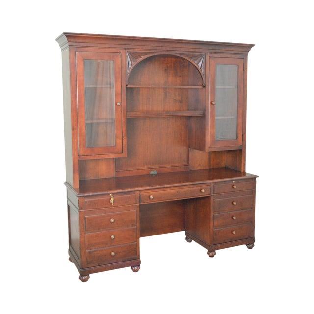 Ethan Allen British Classics Office Desk Credenza W/ Hutch Top For Sale