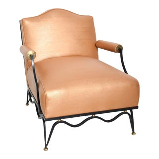 Mexican Modernist Arm Chairs Attr Arturo Pani, French Neoclassical Revival - a Pair For Sale