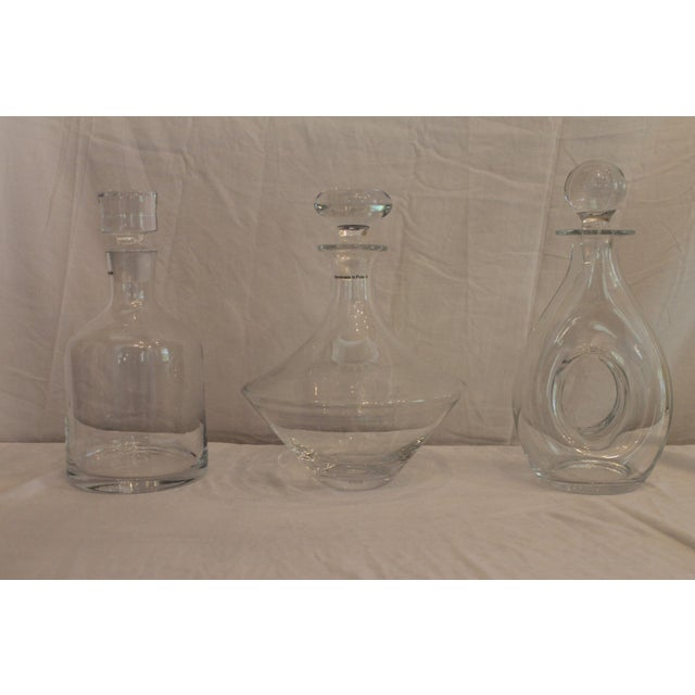 Stella Glass Decanters - Set of 3 For Sale - Image 10 of 10