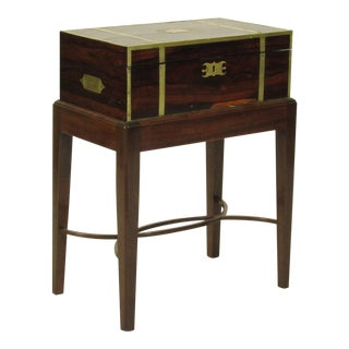 19th Century Regency Lap Desk on Stand For Sale