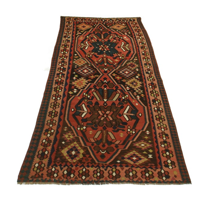 RugsinDallas Antique Hand Knotted Wool Persian Kilim Rug