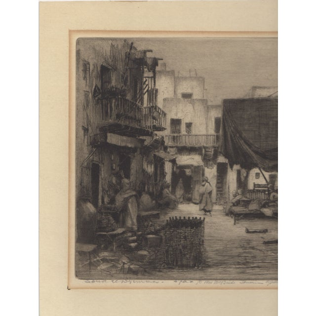 Islamic 1930's Etching by Walter Chandler For Sale - Image 3 of 5