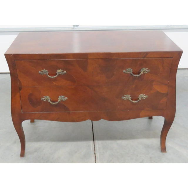 Italian Louis XV Style Olivewood Commode For Sale - Image 10 of 10