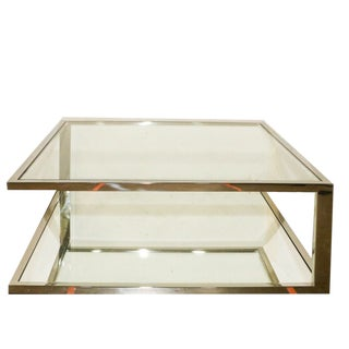 Super Close Out Sale !! Modern Modani Chrome and Glass Coffee Table For Sale