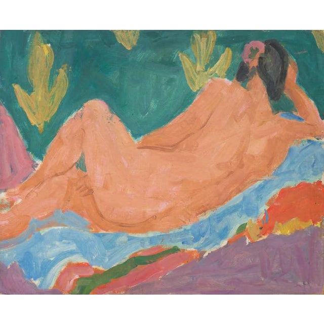 1950s Victor DI Gesu Reclining Nude 1955 For Sale - Image 5 of 5