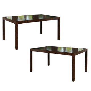 Elegant Restored Vintage Oil Drop Lacquer Extension Dining Table or Writing Desk For Sale