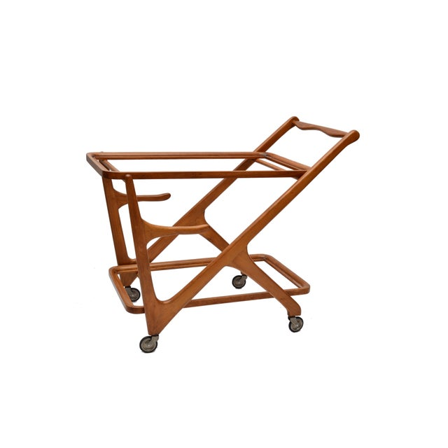 Cassina Cesare Lacca Wooden Bar Cart for Cassina, Italy For Sale - Image 4 of 8