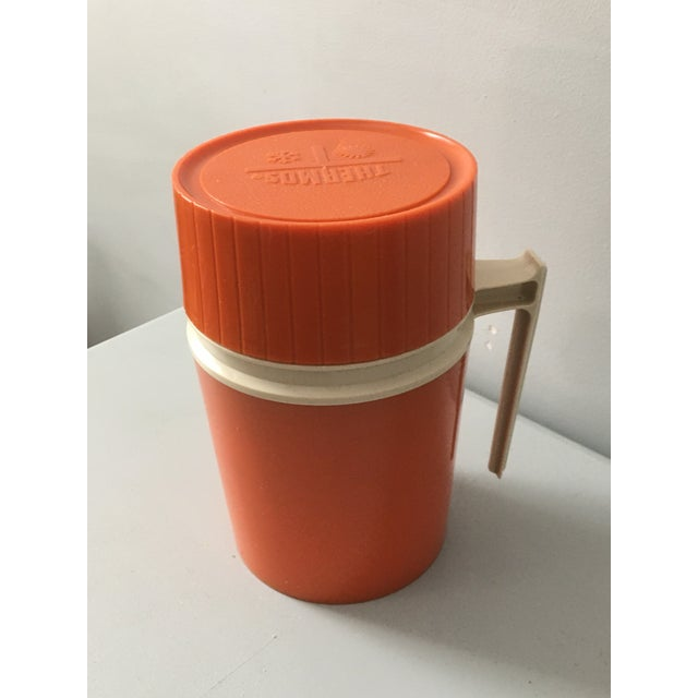 The American Thermos Bottle Company Mid-Century Modern Orange Thermos Brand Kitchen / Bar Accent For Sale - Image 4 of 10