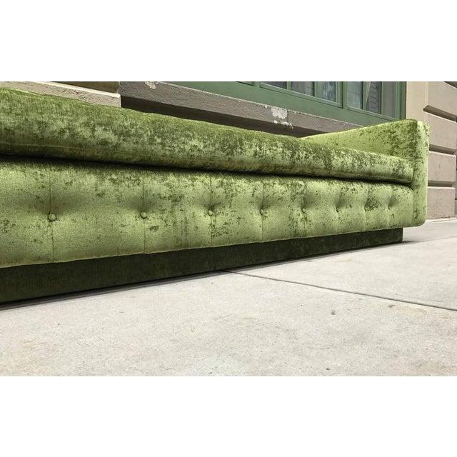 Custom Tufted Green Velvet Sofa Flavor Custom Design For Sale - Image 4 of 8