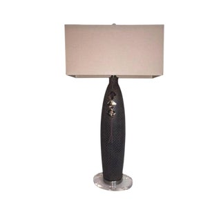 John Richard Textured Ceramic Lamp For Sale