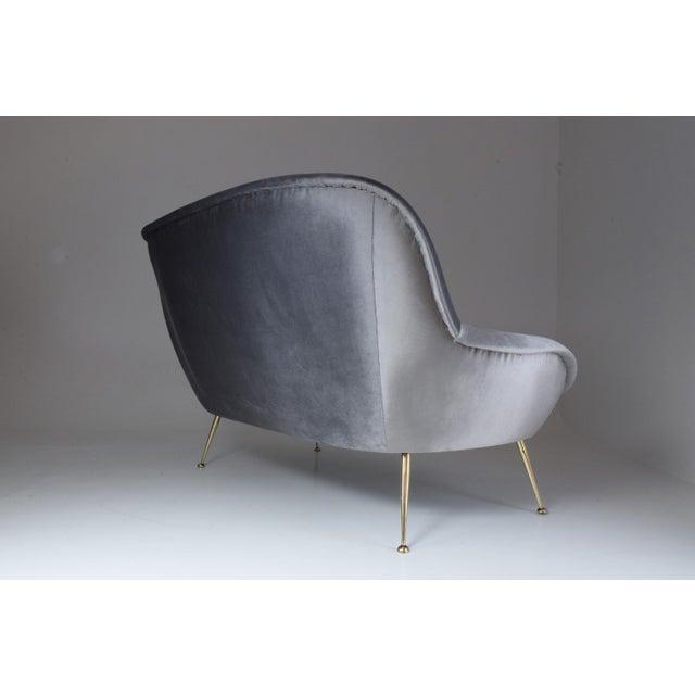 Italian Midcentury Velvet Sofa Set by ISA Bergamo, 1950s For Sale - Image 10 of 13