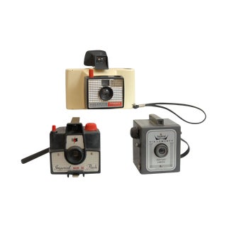 Decorative Vintage Snapshot Cameras - Set of 3