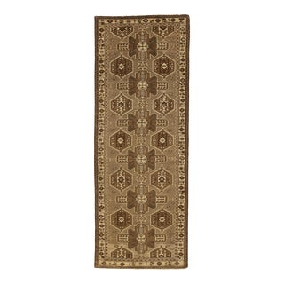 Persian Saveh Area Rug With Beige & Brown Tribal Field For Sale