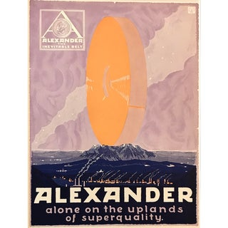 1917 American Advertisement, Alexander Belts, Alone on the Uplands For Sale