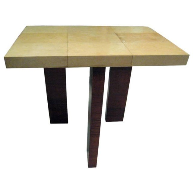 """Wood Italian """"Tre Gambe"""" Console For Sale - Image 7 of 7"""