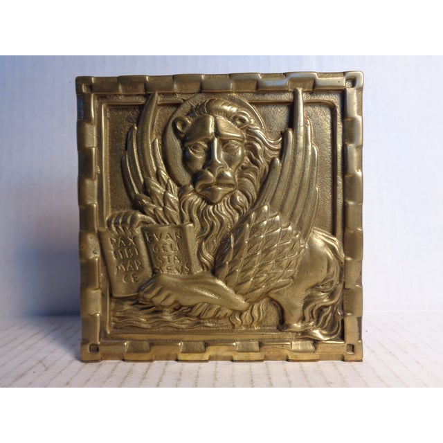 Solid Brass Venetian Bookends - Pair - Image 3 of 5