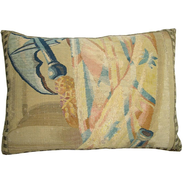17th Century 17th Century Antique Brussels Tapestry Pillow For Sale - Image 5 of 6