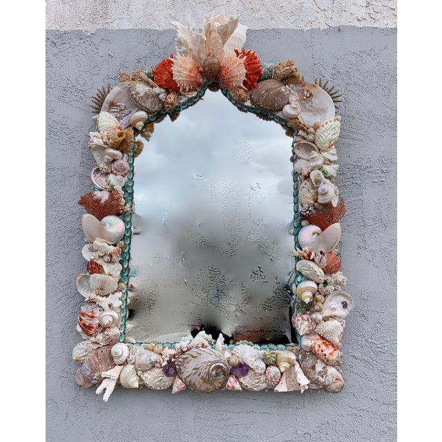 "2010s ""Rustica"" Shell-Encrusted Mirror For Sale - Image 5 of 5"