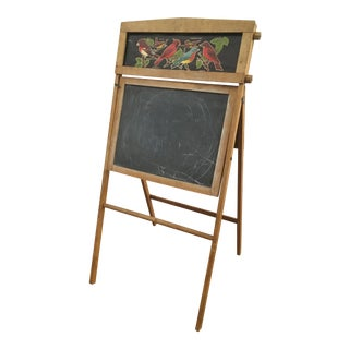 1940s Americana Chalkboard on Easel For Sale