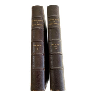 1902 Famous Homes of Great Britain Books - 2 Volumes For Sale