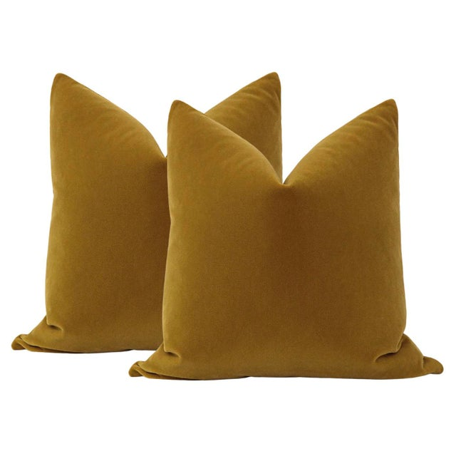 """Not Yet Made - Made To Order 22"""" Bourbon Mohair Pillows - a Pair For Sale - Image 5 of 5"""