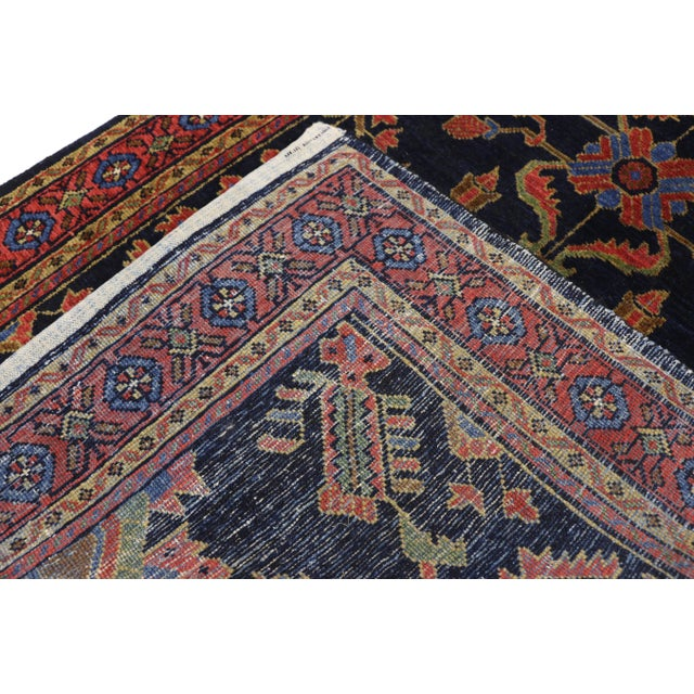 Antique Persian Malayer Rug Runner With Mina Khani - 3'5 X 16'4 For Sale - Image 4 of 10