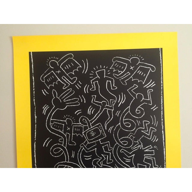 "Keith Haring Keith Haring ""Future Primeval"" Original Offset Lithograph For Sale - Image 4 of 10"