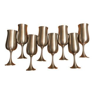 Royal Selangor Pewter Wine Goblets - Set of 16 For Sale